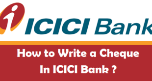 How to Write a Cheque in ICICI Bank