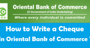 How to Write a Cheque in Oriental Bank of Commerce