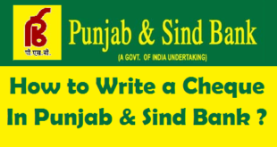 How to Write a Cheque in Punjab & Sind Bank