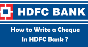 How to Write a Cheque in HDFC Bank