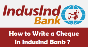 How to Write a Cheque in IndusInd Bank