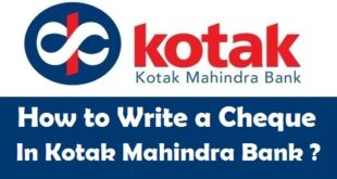 How to Write a Cheque in Kotak Mahindra Bank